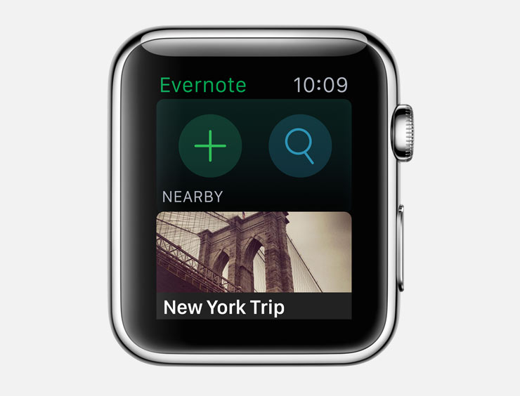 evernote app apple watch