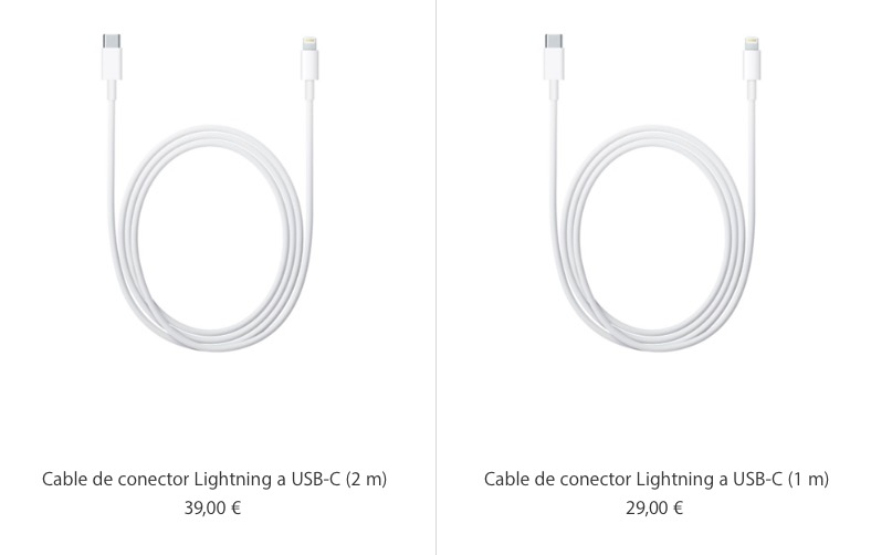 Cable lightning a USB-C iPad Pro