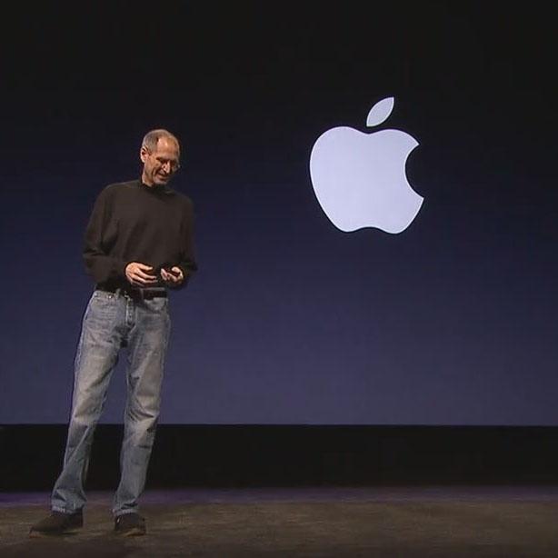 Steve Jobs durante la presentación del iPad 2