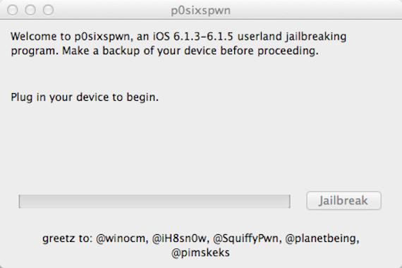 Jailbreak Untethered iOS 6.1.3 p0sixspwn