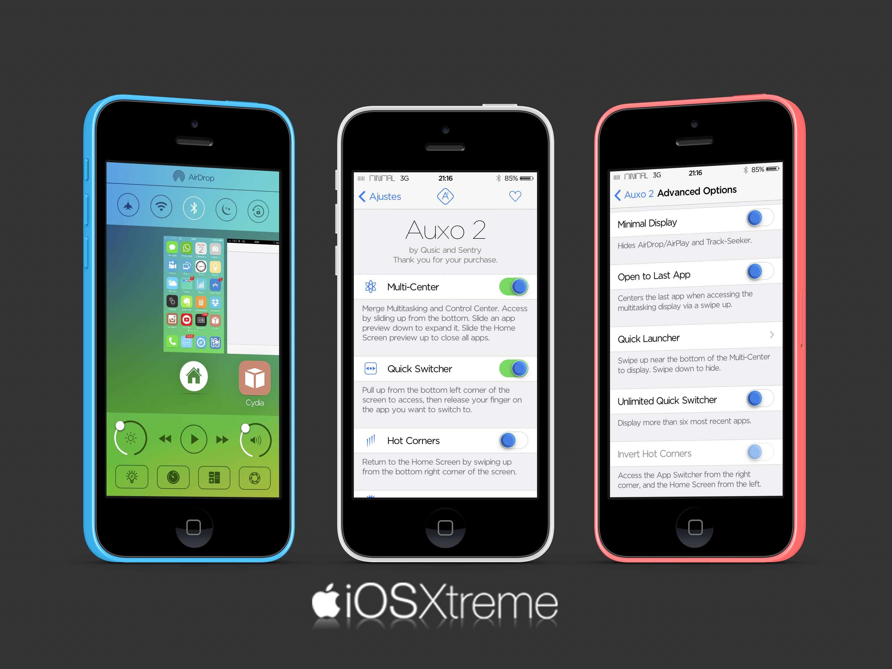 Auxo 2 Cydia tweak iOSXtreme