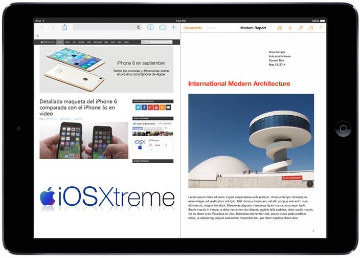 Multitarea iPad Air iOS 8