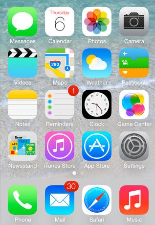 iconos iOS 7