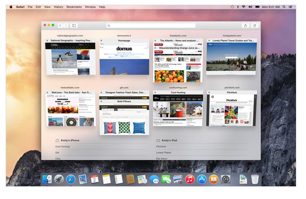 OS X Yosemite Safari