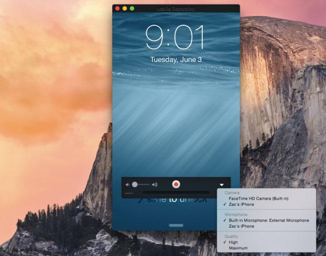 iOS 8 os x yosemite grabar pantalla