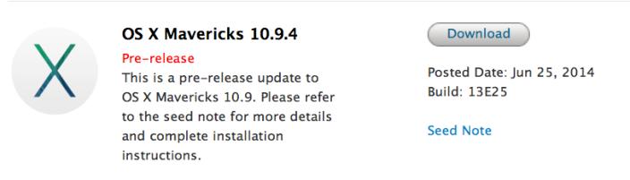OS X 10.9.4 beta