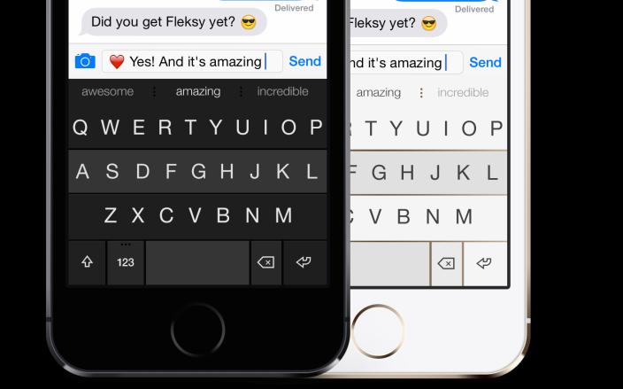 Teclado Fleksy iOS 8