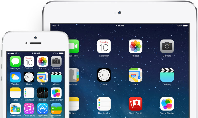 iOS 7 en iPhone y iPad, Apple