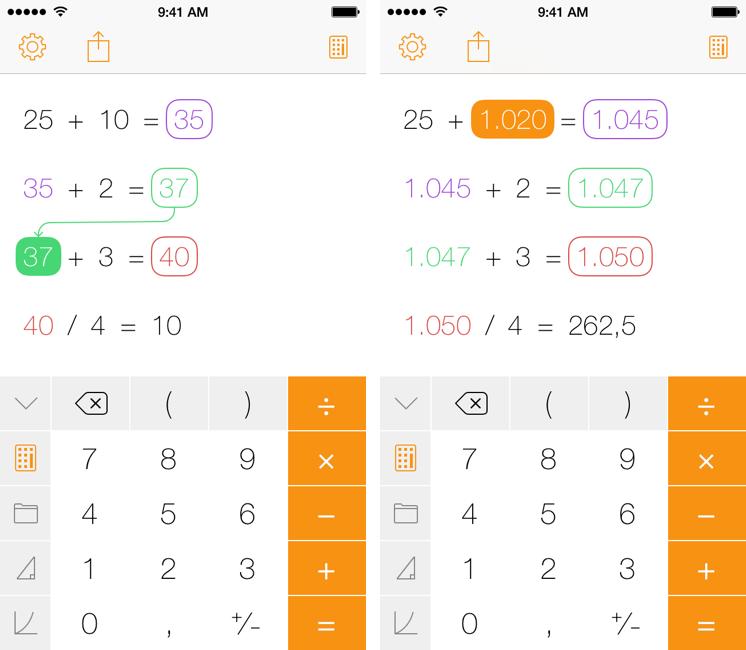 calculadora ios 2