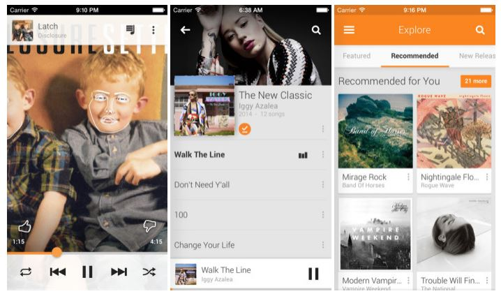 Google Play Music actualizacion