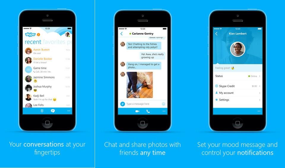 Skype para iPhone 6 actualización
