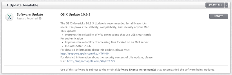 Mavericks 10.9.5