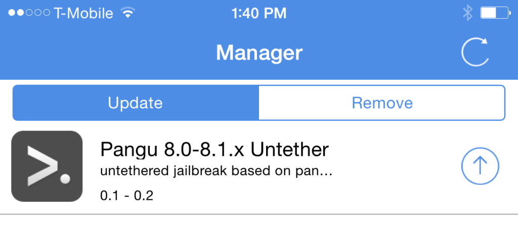 Pangu actualización Jailbreak iOS 8