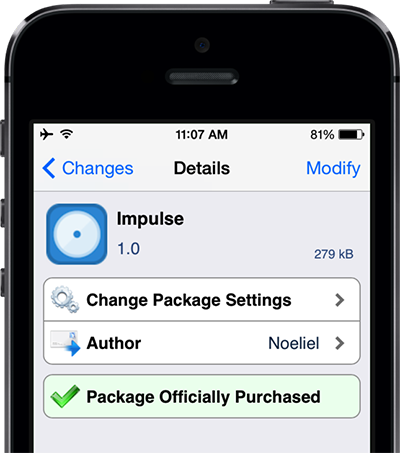 impulse cydia tweak iOSXtreme