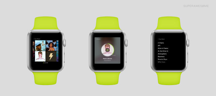Concepto de Aplicaciones para el Apple Watch