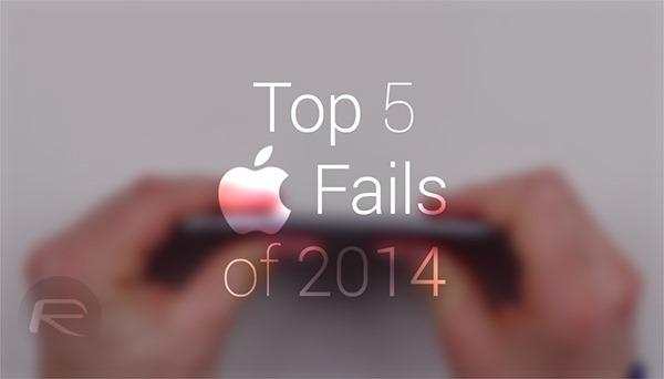 Top 5 fails de Apple