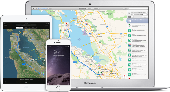 iCloud mapas iOS 9 Apple