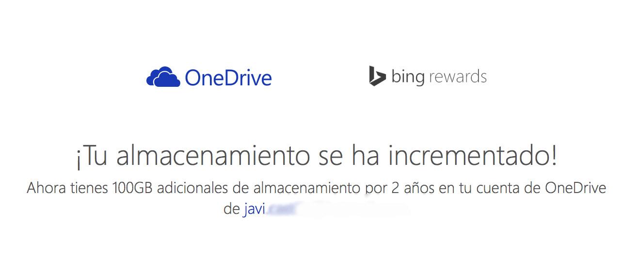 100 GB adicionales de OneDrive