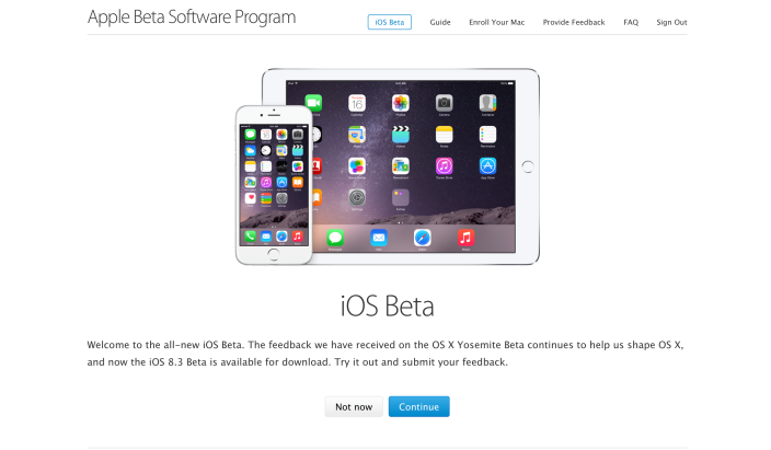 Beta pública iOS 8.3
