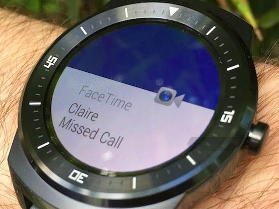 Android wear compatible con iOS - FaceTime