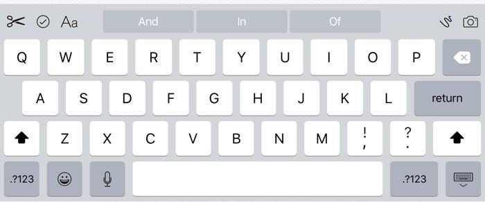 iOS 9 teclado atajos comandos