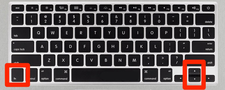 teclado desplazarnos os x