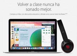 Apple regalará Beats Solo2 a los estudiantes que compren un Mac