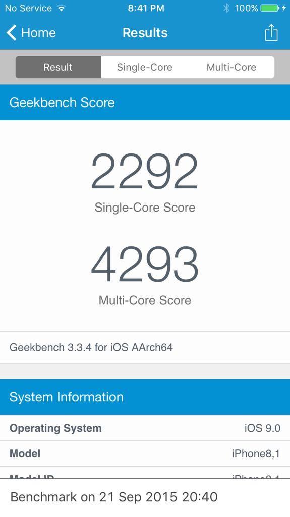 iphone 6s rendimiento