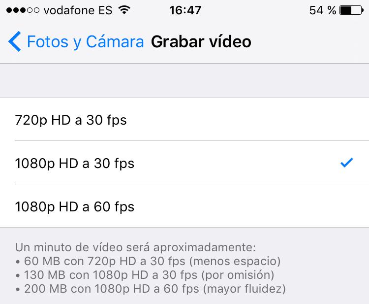 Cambiar resolución de vídeo