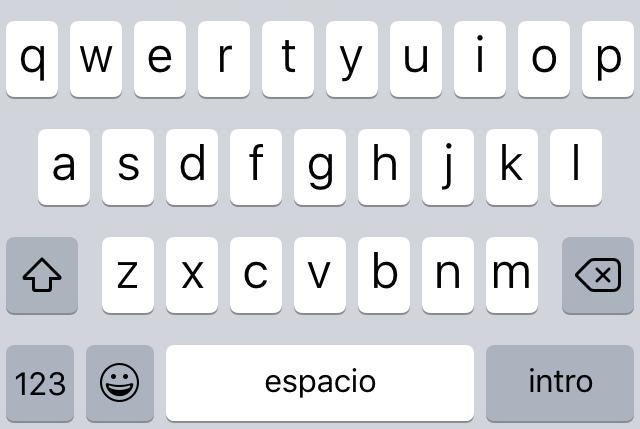 Teclado en iOS 9