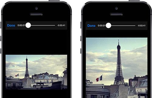 Zoom en un vídeo con iOS 9