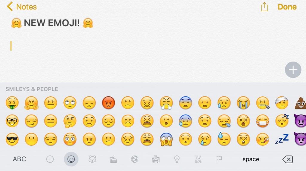 emojis en iOS 9.1 beta