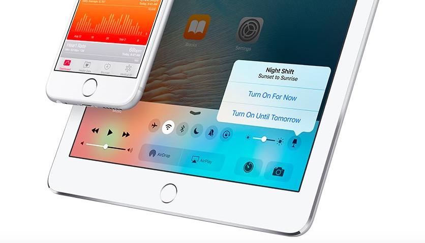 Reducción de luz azul en iOS 9.3