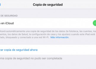 Problemas copia de seguridad en iCloud
