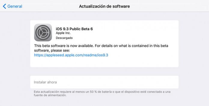 iOS 9.3 beta 6