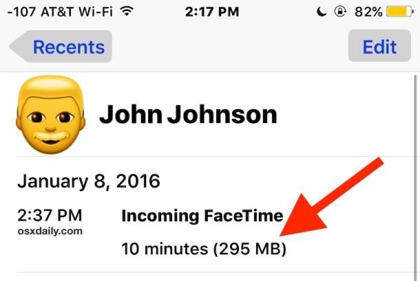 Llamada de FaceTime cuántos datos consume