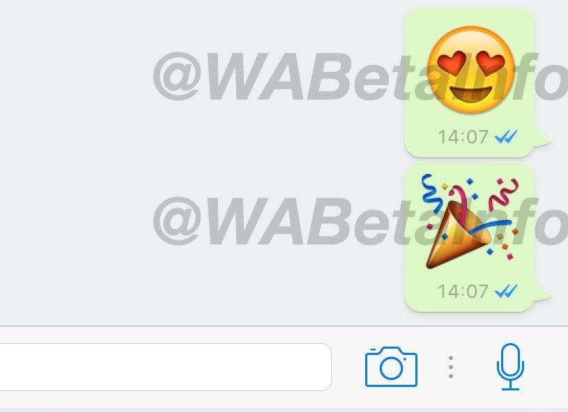 whatsapp beta emojis grandes