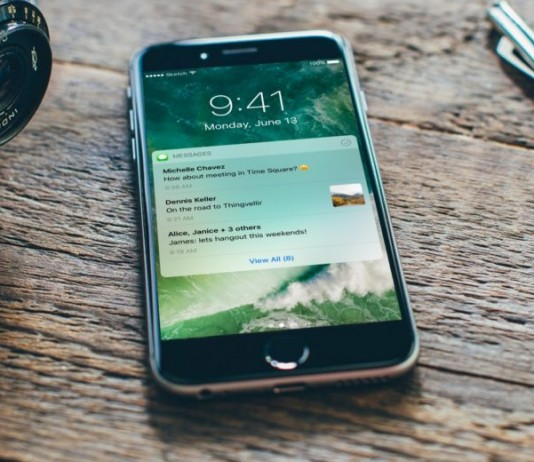 Concepto de iOS 10 notificaciones