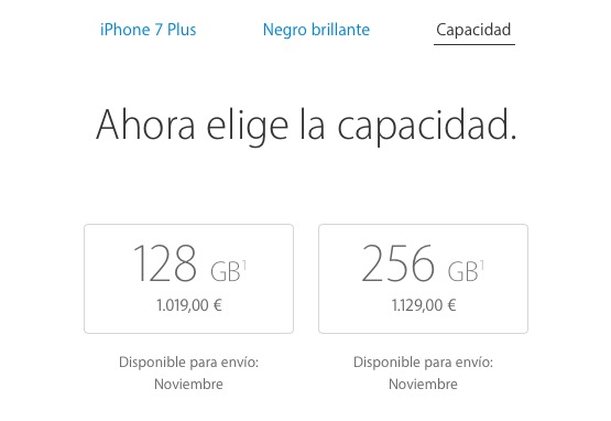 iPhone 7 negro brillante problemas de stock